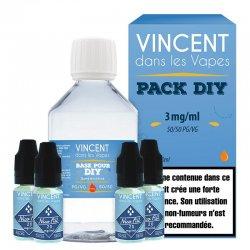 Pack Base DIY 50/50 3 mg Vincent Dans Les Vapes (VDLV)