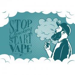 Tapis DIY'UP dessin vapoteur Stop smoking Start Vape