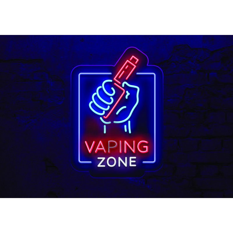 Tapis DIY'UP néon Vaping zone