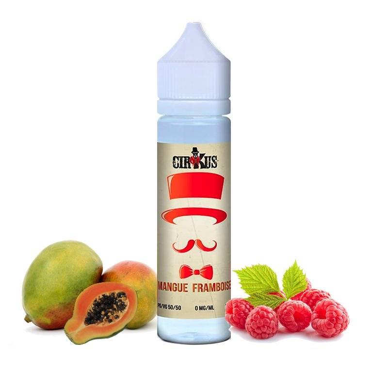Mix and Vape eliquide Mangue Framboise Cirkus 50 ml