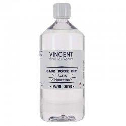 Base pour DIY 20/80 Vincent dans les vapes 1 litre