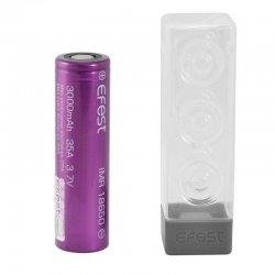 Accu Efest Purple IMR 18650 et étui de protection