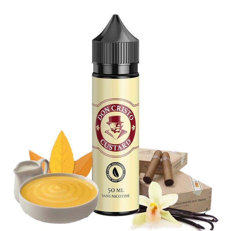 E-liquide Don Cristo Custard 0% sucralose PGVG Labs 50 ml