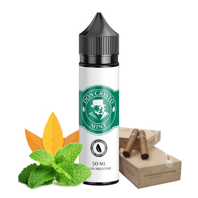 E-liquide Don Cristo Mint 0% sucralose PGVG Labs 50 ml