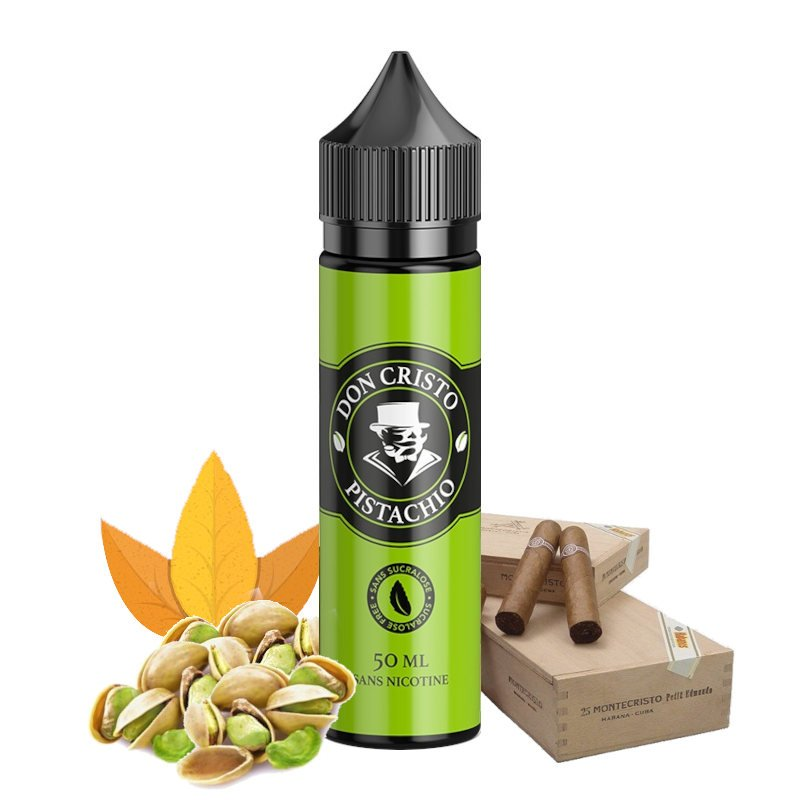 E-liquide Don Cristo Pistachio 0% sucralose PGVG Labs 50 ml