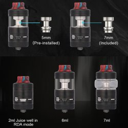 Chambres d'atomisation et configurations