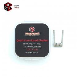Coils Quad Core Fused Clapton Ni80 Steam Crave 3 mm 0.3 ohm