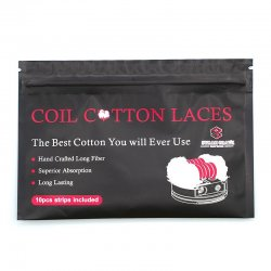 Pads de coton en lacet pour la vape Coil Cotton Laces Steam Crave
