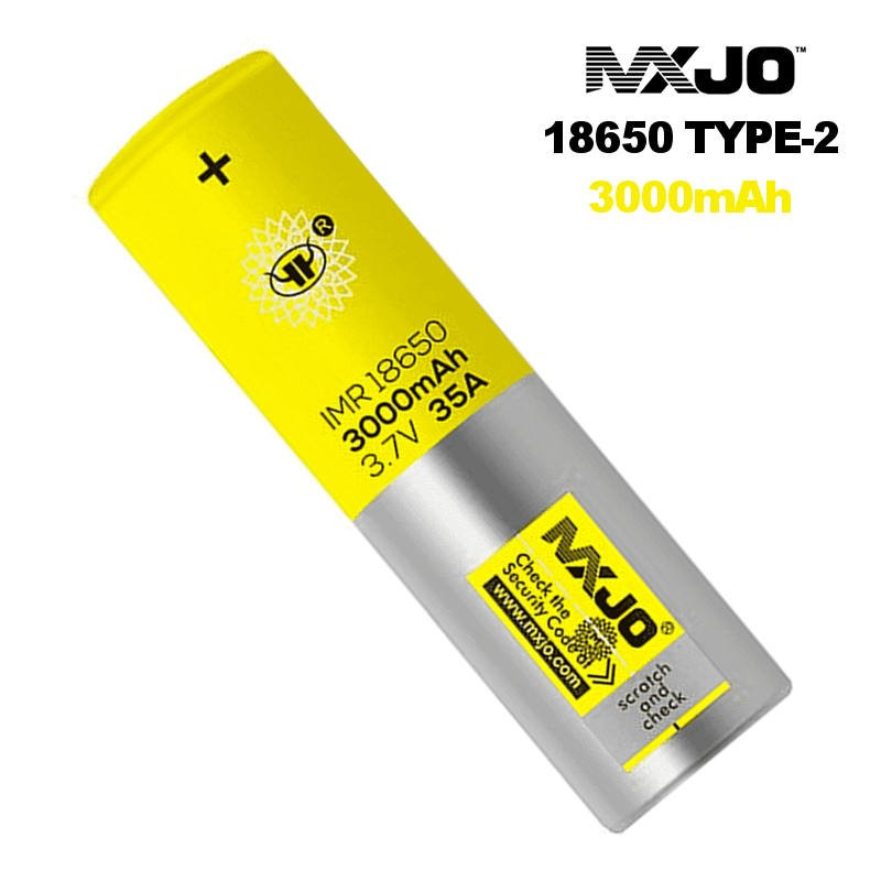 Batterie rechargeable MXJO 18650 Type-2 3000 mAh