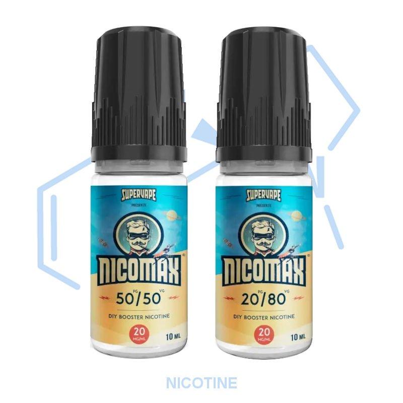 Boosters nicotine Nicomax Supervape PG/VG 50/50 ou 20/80