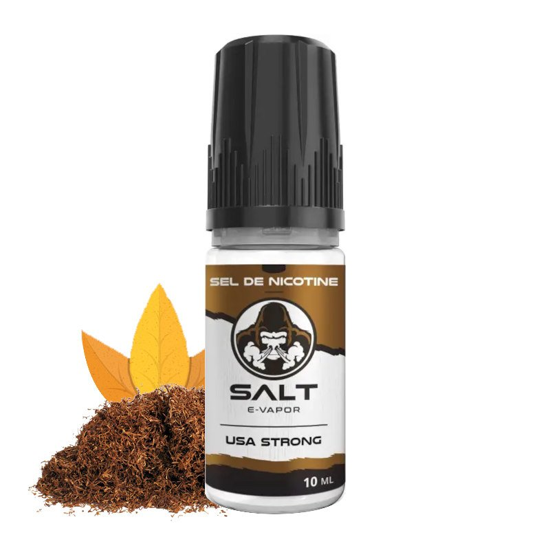 Eliquide sels de nicotine USA Strong Salt E-Vapor 10 ml