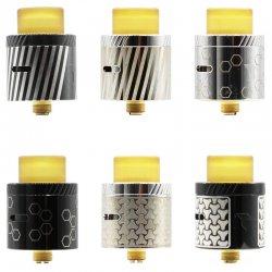 dripper high end Leto RDA 24 mm Gravure Edition Titanide : Black ou SS Gravure Vortex, Hexa ou Maru Bishamon