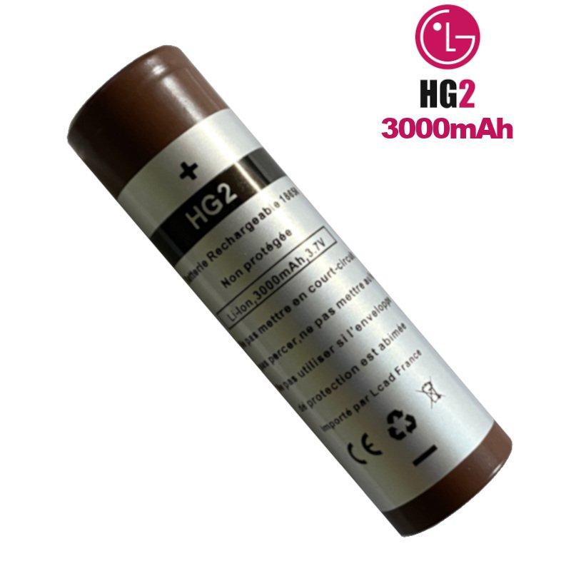 Accu HG2 18650 LG pour cigarette électronique
