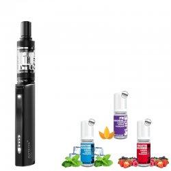 Pack débutant Q16 : 1 cigarette électronique + 3 e-liquides