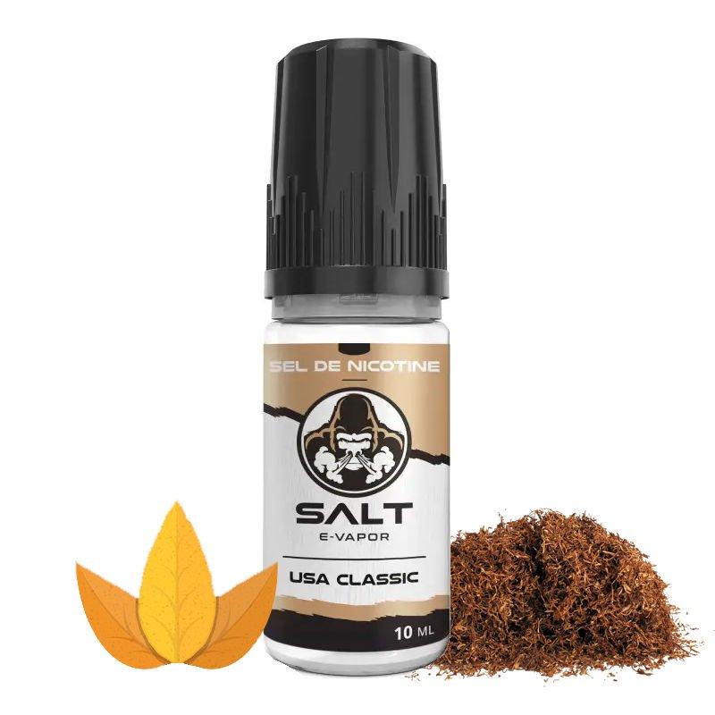 Eliquide sel de nicotine goût tabac USA Classic Salt E-Vapor 10 ml