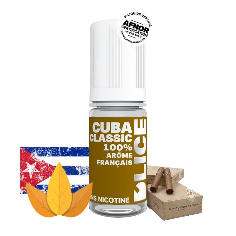 Eliquide Cuba Classic DLICE saveur cigares cubains