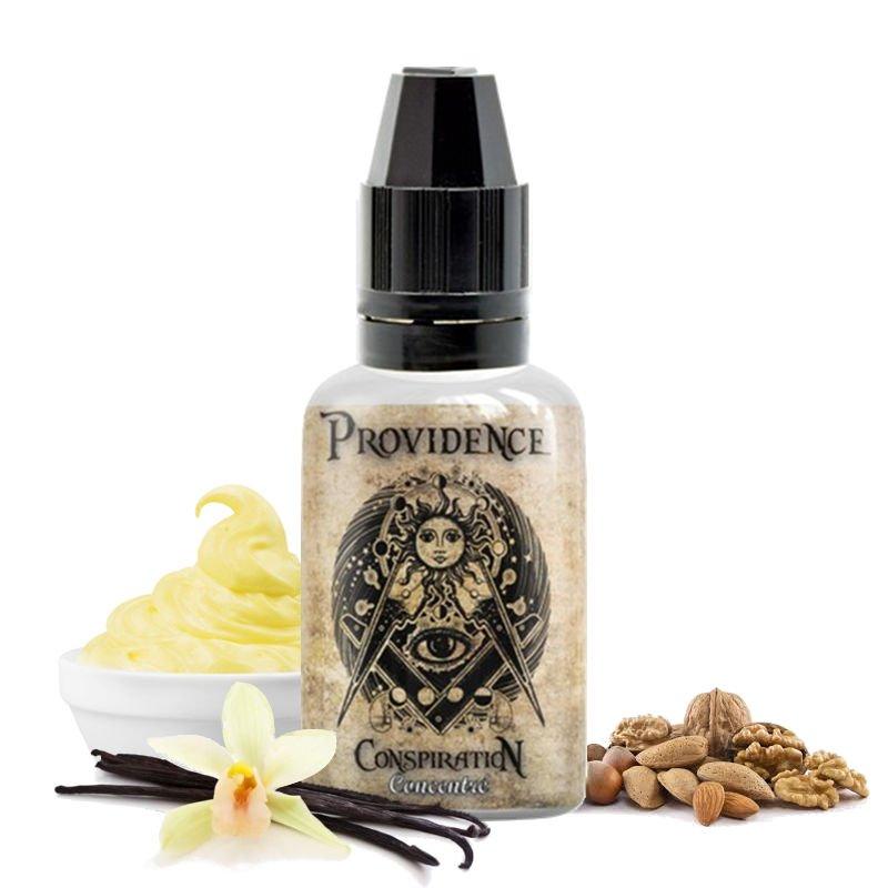 Arôme concentré Providence Conspiration de Kapalina : Custard - Vanille - Fruits à coque