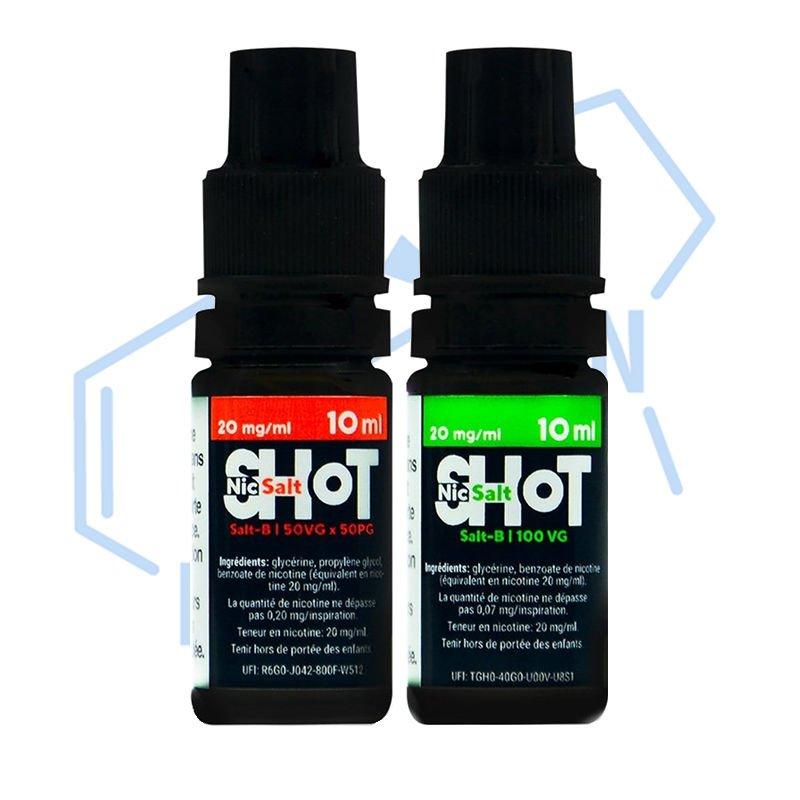 Booster 50/50 et 100% VG Shot Nic Salt de Chemnovatic