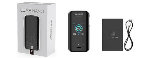 Contenu de la box Vaporeso Luxe Nano