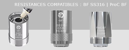 Résistances Joyetech BF SS316 et ProC BF