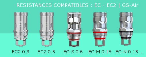 Résistances Eleaf compatibles Melo 4