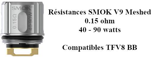 Résistances Smok V9 Meshed