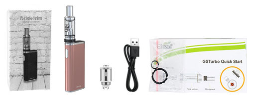 Contenu du kit Eleaf iStick Trim GS Turbo