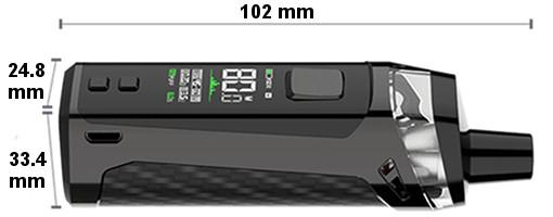 Dimensions Pod PM80 Vaporesso