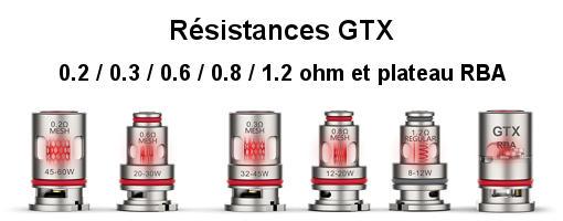 Résistances GTX mesh pour Target PM80 SE Vaporesso
